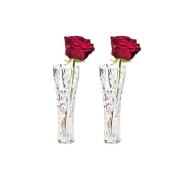 Набор из 2-х хрустальных ваз для цветов Розы