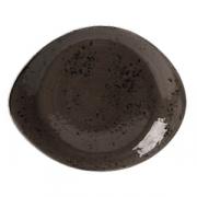 Тарелка мелкая «Крафт», фарфор, H=2,L=255,B=205мм, серый
