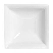 Салатник квадратный «Аура»; фарфор; L=18,B=18см; белый