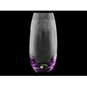 Ваза 25 см «Европейский декор с фиолетовой подсветкой»