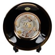 Тарелка декоративная 15 см черная с подставкой Золотой Дракон (black)