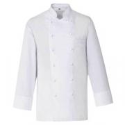 Куртка поварская,р.54 без пуклей, полиэстер,хлопок, белый