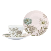 Чашка с блюдцем Ботаника (розовая) без инд.упаковки