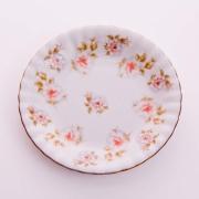 Набор тарелок «Цветы рельеф золото» 17 см. 6 шт.