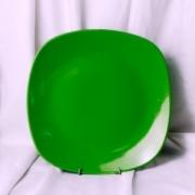 Тарелка подстановочная зел. цвета 30 см