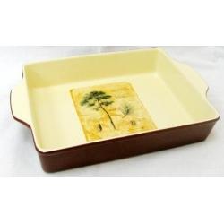 Квадратное блюдо для выпечки «Сосна» 27х22 см