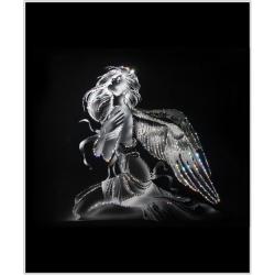 Девушка Ангел, 50х60 см, 1964 кристалла