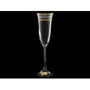 Бокал для шампанского«Флора» «Полоска бесцветноно панто»