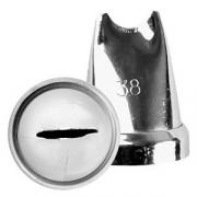 Насадка кондит. «Полоска», сталь нерж., D=22,H=30мм, металлич.