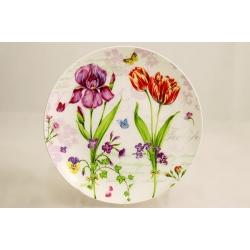 Десертная тарелка «Романтические цветы» 19 см