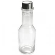 Емкость для масла, стекло,сталь нерж., 250мл, D=55,H=180мм, прозр.,металлич.