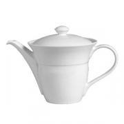 Чайник «Аура»; фарфор; 650мл; белый