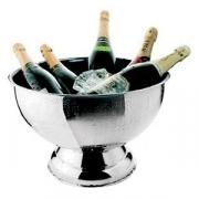 Емкость для охлаждения шампанского; сталь нерж.; D=40,H=26см; металлич.