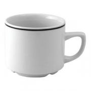Чашка коф «Блэк лайн» 100мл фарфор