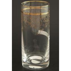 Стакан для воды 300 мл Гольф декор панто+втертое золото