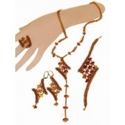 Кулон,кольцо,серьги,браслет