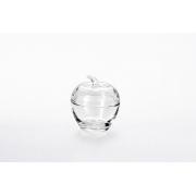 Вазочка с крышкой «Яблоко» 7.5*9 см, цвет: прозрачный