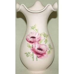 Ваза для цветов 22 см. «Розовые маки»