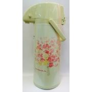 Термос «Розовые цветы» с помпой на 2,5 литра