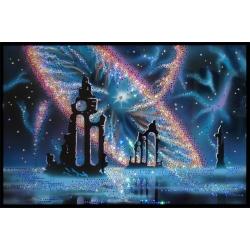 Космическая мистерия, 60х40 см,4301 кристаллов