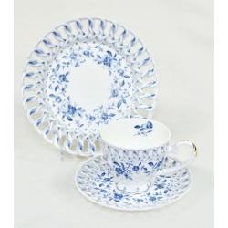 Чашка, блюдце и десертная тарелка «Венеция»