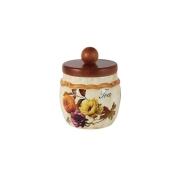 Банка для сыпучих продуктов с деревянной крышкой(чай) Элеганс