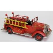Пожарная машина красная 10х30см