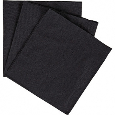 Салфетки «Папирус» 25*25см [400шт] H=14.5, L=24.5, B=13см; черный