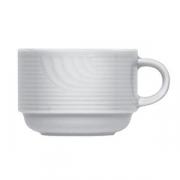 Чашка чайная «Карат», фарфор, 160мл, D=75,H=55,L=100мм, белый