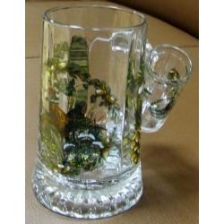 Пивная кружка стеклянная с рюмкой «Фазан», 0.5 л
