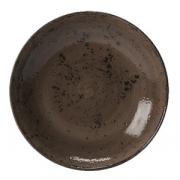 Салатник «Крафт», фарфор, 1л, D=252,H=53мм, серый