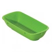 Форма для хлеба овал., полипроп., H=65,L=270,B=120мм, зелен.