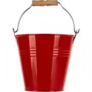 Емкость «Ведро» для закусок цинк D=11, H=10.5см; красный