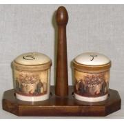 Набор для специй на деревянной подставке «Натюрморт»