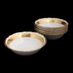 Набор салатников «Лента золотая матовая 1» 13 см. 6 шт.