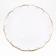 Набор 6 тарелок подстановочных 27см «Белый с золотом»