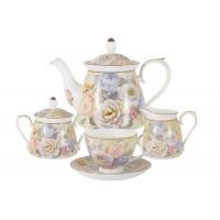 Чайный сервиз из 15 предметов на 6 персон Цветочный вальс в подарочной упаковке