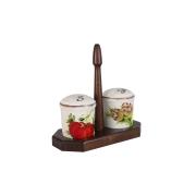 Набор для специй: солонка и перечница на подставке Овощное ассорти