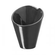 Салатник «Корнет», фарфор, 120мл, D=90,H=105мм, черный