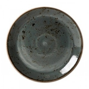 Тарелка мелкая «Крафт»; фарфор; D=23см; синий