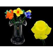 Цветок стекл. желтый