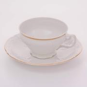 Набор для чая 155 мл. низ. н/н «Бернадот белый 311011» на 6 перс. 12 пред.