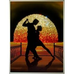 Танго на пире,30х40 см,1671 кристаллов