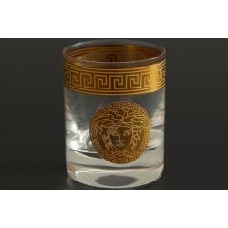 Стопка для водки Гольф декор «Версаче»+ золото выполнен в технике диарит