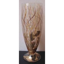 F/728/98 ваза «Серебряные нити» 36см (день и ночь)