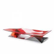 Ваза для фруктов Casa Bugatti SOFFIO 45 x 17 x 10см (красный)