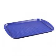 Поднос прямоуг., пластик, H=15,L=420,B=300мм, синий