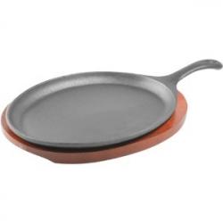 Сковорода для фах. чугун.26*17.5см, с ручко