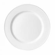 Тарелка мелкая «Блэк Лайн», фарфор, D=23см, белый,черный