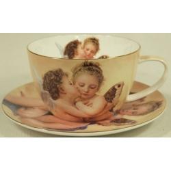 Чашка с блюдцем «Ангелочки»